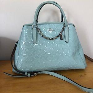 Light Blue Coach Handbag
